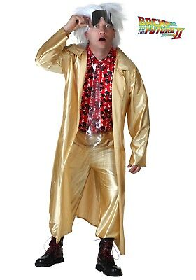 BACK TO THE FUTURE 2015 DOC BROWN COSTUME SIZE LARGE (missing shirt)