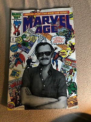 """Rare"" Marvel Age #41: Special Stan (The Man) Lee Issue"