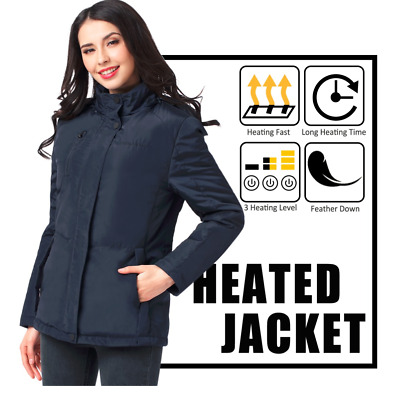 Women's heated jacket Winter Electric Heated Hooded
