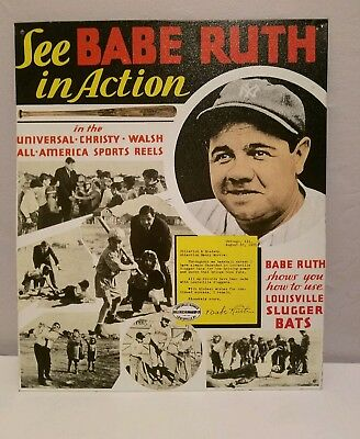 Babe Ruth Sports Reels Metal Sign