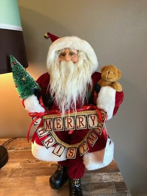 Silvestri by Demdaco Large Merry Christmas Stand Up Santa Figurine