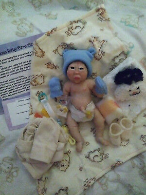 Miniature Full Body Solid Silicone baby Boy reborn doll Mini 6""