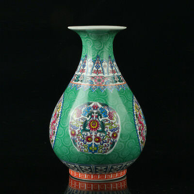 Chinese Porcelain Hand-Painted Flower Vase Mark As The Qianlong Period  R1014