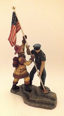 """2001 We The People Statue """"Raising The Flag"""" - Cast Art Industries - With Box!"""