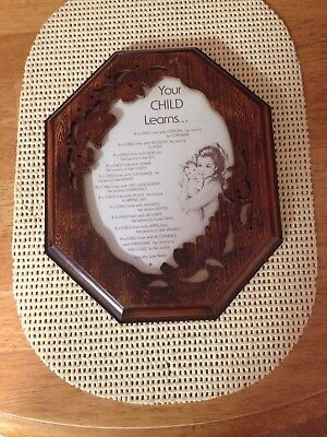 """""""Your Child Learns"""" Wall Plaque"""