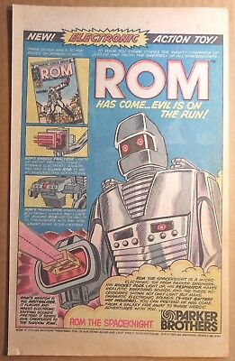 Vintage 1979 - Parker Brothers ROM The Spaceknight Print Ad - Toy Art Poster