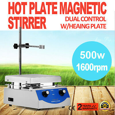 SH-3 Hot Plate Magnetic Stirrer Mixer Stirring 17x17cm Stir Bar Dual Controls