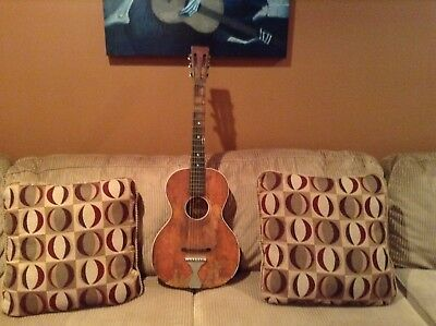 Circa Early 1900's ? Parlor Guitar. Inside label partly visible.