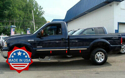 """1999-2016 Ford F-250/F-350 Regular Cab Long Bed Body Side Molding 6Pc Trim 2"""""""