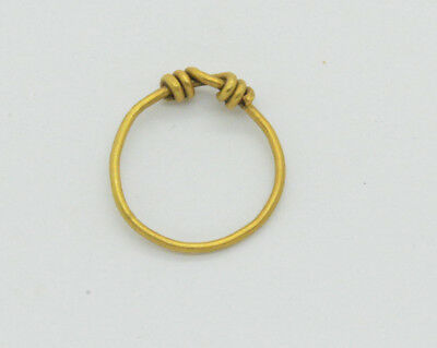 Post Medieval period gold plated ring 18 Century