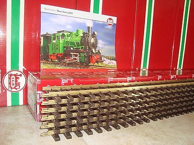 Lgb 10610 Brass 4 Ft Straight Track Box Of 6 Pcs New + Free 2014 Flyer Included!