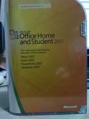 microsoft office 2007 home and student used