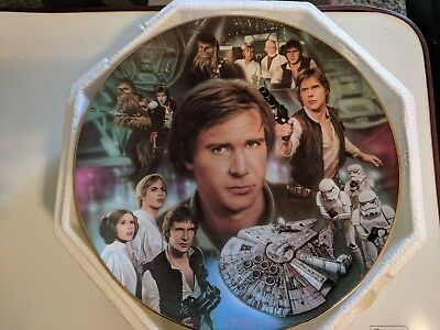 Star Wars Hamilton Collection Heroes and Villains Han Solo Plate EX+