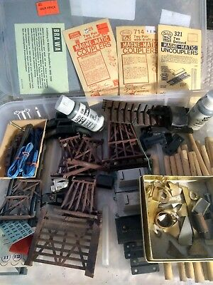 Granddaddy's  Train Stuff...JUNK DRAWER..New old stock Huge Lot 75+ pieces