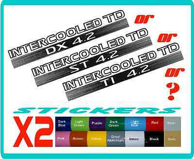 INTERCOOLED TD,  DX or ST 4.2 stickers for Nissan Patrol - 16 colours