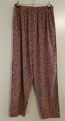 Andrea Lee Design  Size Medium Vintage Retro Long Stretch Waist Pants