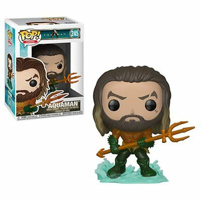 Funko Pop! Heroes | Aquaman | Arthur Curry In Hero Suit | Vinyl Figure #245