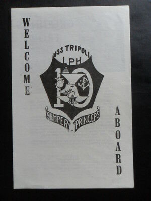 United States Navy USS TRIPOLI (LPH-10) Welcome aboard 1970's