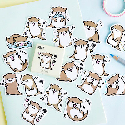 45pcs cute otter series paper sticker diy diary decor for album scrapbooking  X
