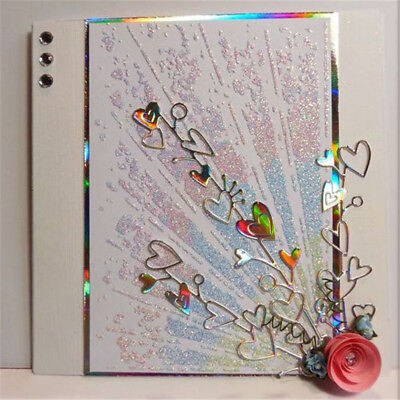 Heart lace DIY Stencils Cutting Dies Scrapbooking Embossing Card Paper Decor  X