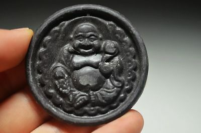 Exquisite Chinese Old Jade Carved *smile Buddha* Pendant Sdd16