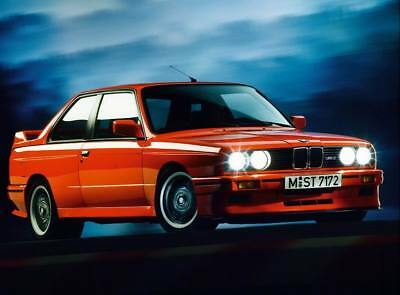 BMW M3 Series 3 E30 Car Automobile Red Motion Giant Art Print Poster