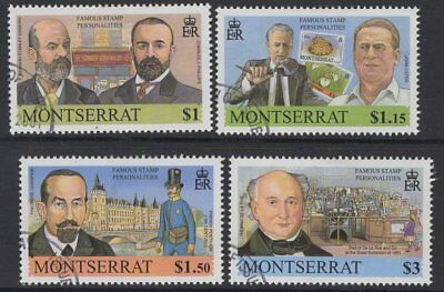 Montserrat Sg1180/3 2001 Famous Stamp Personalities Fine Used