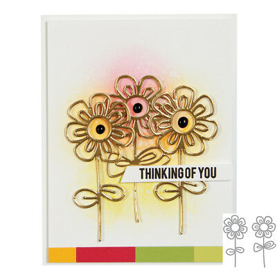 Hollow Flower Cutting Dies Stencil Scrapbooking Paper Card Embossing Crafts DIY