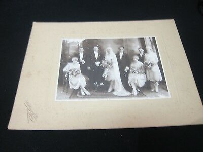 Antique Photo -1920's Wedding Group Portrait - Richmond Melbourne 300mm x 220mm