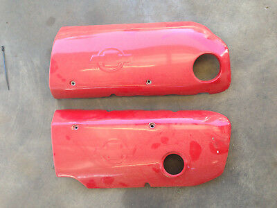 LS1 Chev logo LS1 engine covers painted red.
