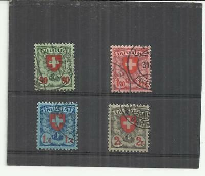 Switzerland 1924 Definitive Set of 4 Fine Used CHEAP!!!!!!!!