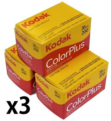 Kodak 6031470 135 36 200 ColorPlus   135 36 Exp 200asa film  3 Rolls Exp 07/2020