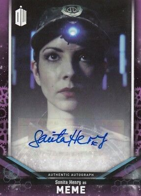 2018 Doctor Who Signature Series Sonita Henry as Meme Auto Card