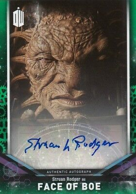 2018 Doctor Who Signature Series Struan Rodger as Face of Boe Auto Card 31/50