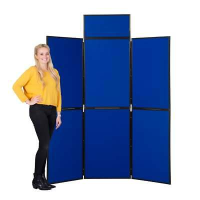Portable Folding Exhibition Display Stand 7Panel with header board and Carry Bag