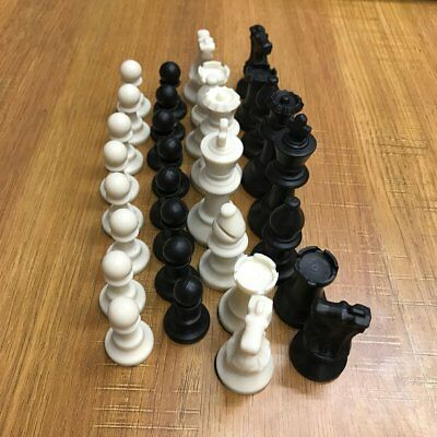 65MM 32 Medieval Chess Piece Complete Chessmen International Word Chess LF