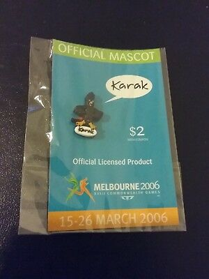 KARAK Official Mascot Melbourne 2006 Commonwealth Games Pin Badge