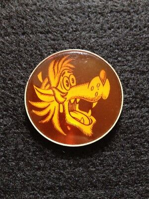 "USSR PIN Russian Cartoon ""NU POGODI"" Wolf Soviet Vintage Badge."