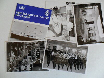 Royal Navy HMY BRITANNIA Welcome Aboard 1996 & 4 small photographs