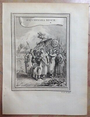 India Moghul Princess 1750 By Nieuhoff & Bellin Nice Antique Ethnic View