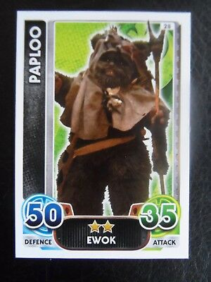 Topps Force Attax Star Wars Card 'Paploo' #28