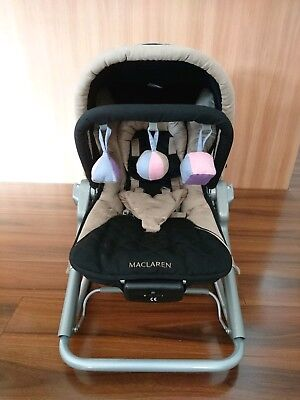 Maclaren 2 in 1 Baby Rocker and Chair, Black and Champagne.
