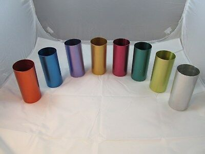Lot of 8 Perma Hues Vintage Aluminum Glasses