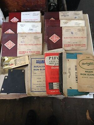 a quantity of vintage electric iron and fire elements