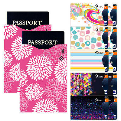 Delicate RFID Blocking 10 ID / credit card  2-Pass-owner protection sleeves