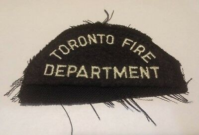 Old Toronto Ontario Canada Fire Dept cloth patch firefighter vintage uniform TFD