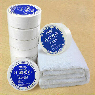 Disposable Compressed Cotton Towel Bath Face Travel Reusable Washing Hotel CA