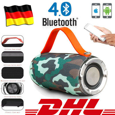 Wireless Bluetooth Lautsprecher Stereo Speaker Soundstation Soundbox Musikbox SD
