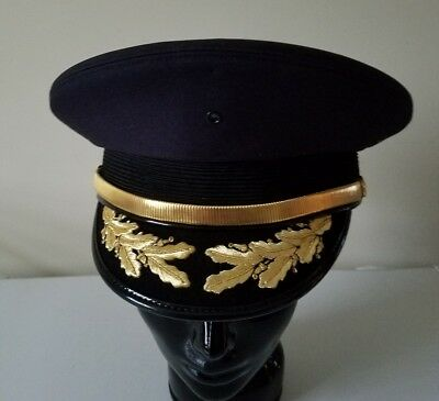 Pittsburgh Bureau of Fire Firemans Hat Cap Gold Embroidery Uniform Military PBF
