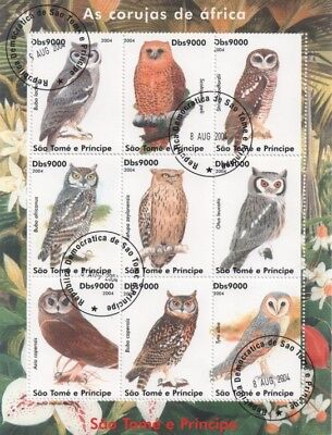 Thematic stamps Birds Owls 12 different mini sheets /  sets of stamps - used CTO